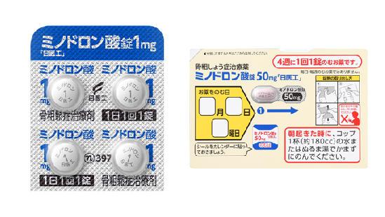 ミノドロン酸錠1mg/50mg「日医工」